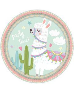 Llama Paper Plates