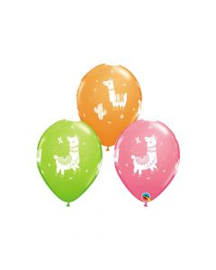 """Llama Print 11"""" Latex Balloons"""