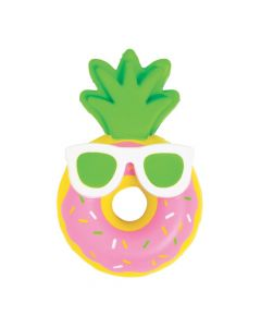Luau Donut Pineapple Scented Slow-Rising Squishy