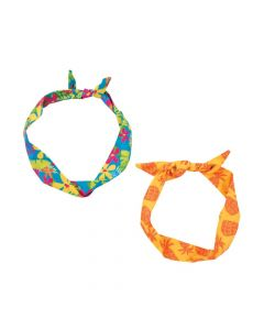 Luau Floral and Pineapple Wired Headbands