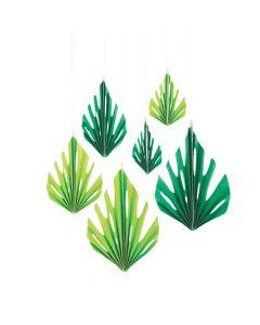 Luau Leaf Hanging Fans
