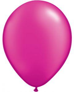 Magenta 27cm Pearl Round Latex Balloon