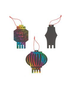 Magic Color Scratch Chinese New Year Lanterns