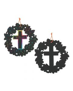 Magic Color Scratch Cross Wreaths