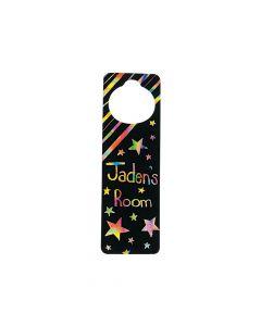 Magic Color Scratch Doorknob Hangers