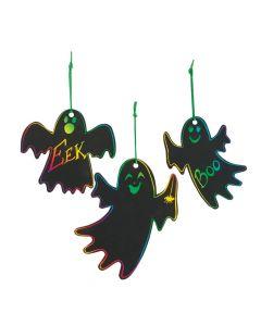 Magic Color Scratch Ghost Ornaments