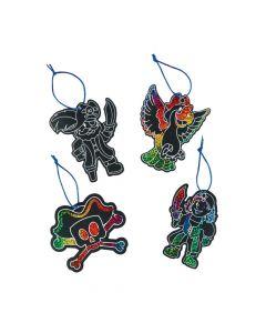 Magic Color Scratch Pirate Ornaments