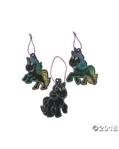 Magic Color Scratch Unicorn Ornaments