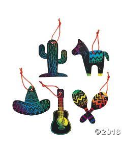 Magic Colour Scratch Fiesta Ornaments