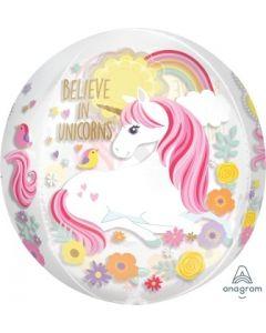Magical Unicorn Clear Orbz Foil Balloon