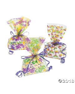 Mardi Gras Cellophane Bags