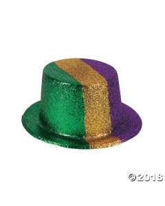 Mardi Gras Glitter Top Hats