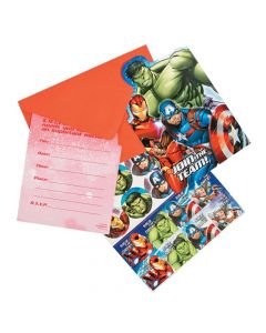 Marvel Avengers Party Invitations