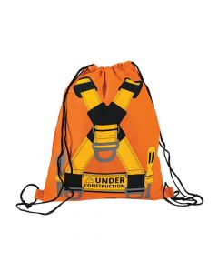 Medium Construction VBS Drawstring Bags