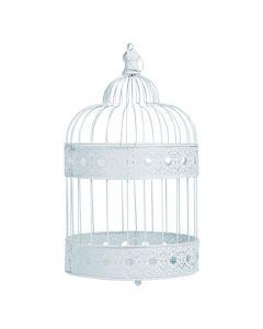Medium White Bird Cage