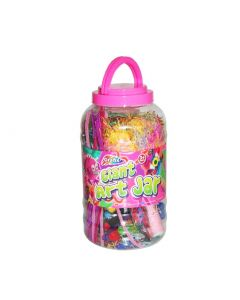 Mega Arts and Craft Jar - Pink