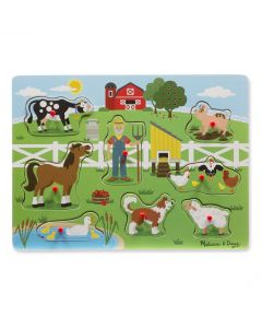 Melissa and Doug Old Macdonald's Farm Sound Puzzle