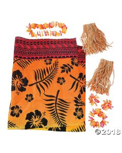 Mens Luau Apparel Kit