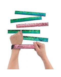 Mermaid Reversible Sequin Slap Bracelets