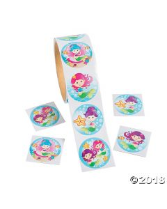 Mermaid Roll of Stickers