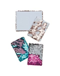 Mermaid Scale Reversible Sequin Notebook Assortment