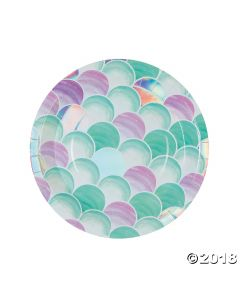 Mermaid Sparkle Lunch Paper Plates