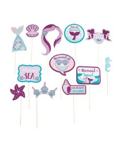 Mermaid Sparkle Photo Stick Props
