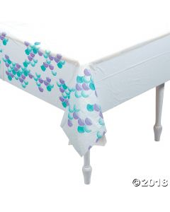 Mermaid Sparkle Plastic Tablecloth