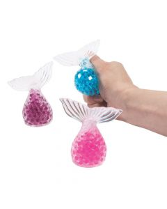 Mermaid Tail Water Bead Squeeze Toys