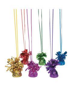 Metallic Colored Balloon Weights Assortment