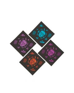 Metallic Day of the Dead Beverage Napkins