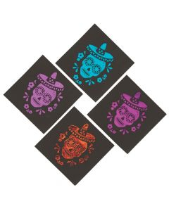 Metallic Day of the Dead Luncheon Napkins