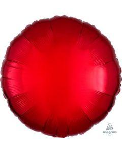 Metallic Red Circle Balloon