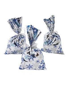 Metallic Snowflake Goody Bags