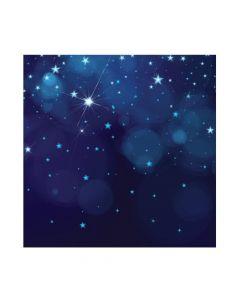 Midnight Blue Starry Night Backdrop