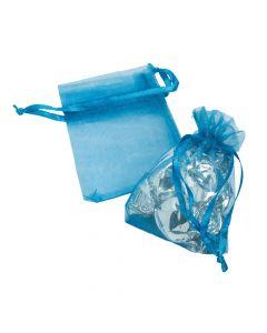 Mini Blue Organza Bags