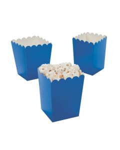 Mini Blue Popcorn Boxes