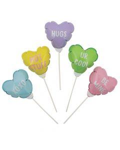 Mini Conversation Heart Mylar Balloons