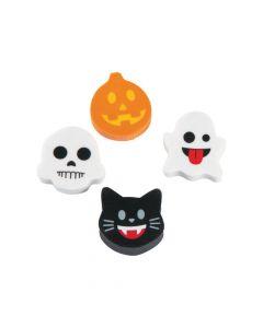 Mini Halloween Emoji Erasers