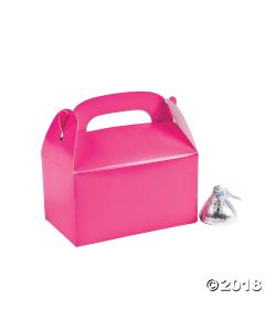 Mini Hot Pink Favour Boxes