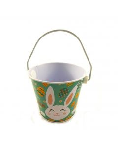 Mini Iron Buckets with Handle Blue