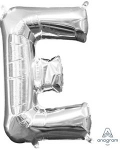 Mini Letter E Silver Foil Balloon