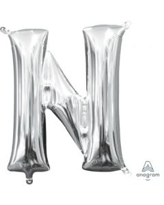Mini Letter N Silver Foil Balloon