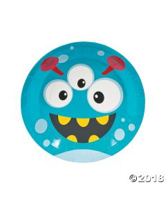 Mini Monster Paper Lunch Plates