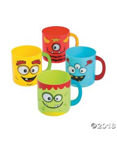 Mini Monster Plastic Mugs