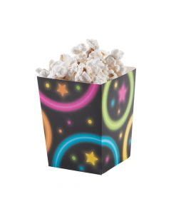 Mini Neon Glow Party Popcorn Boxes