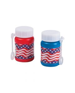 Mini Stars and Stripes Bubble Bottles