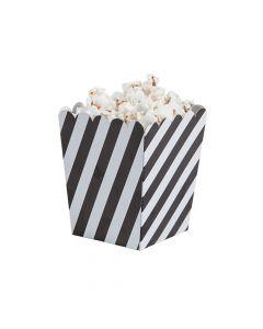 Mini Striped Black and White Popcorn Boxes