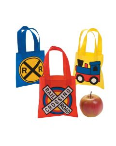 Mini Train Party Tote Bags