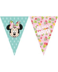 Minnie Tropical Triangle Flag Banner